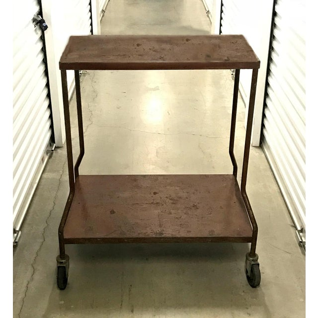 Vintage Industrial Wheeled Cart For Sale In Los Angeles - Image 6 of 6