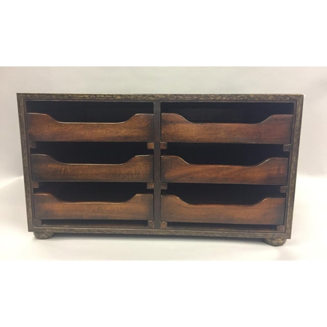 Traditional Theodore Alexander Wooden Desk Organizer For Sale - Image 9 of 9