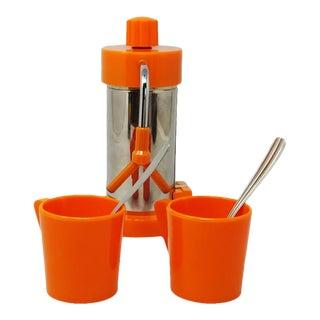 1960s Italian Small Velox Ferrara Espresso Coffee Machine With Box by P. Malago - 5 Pieces For Sale