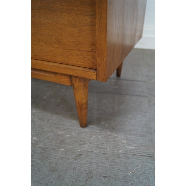 Mid-Century Danish Influenced Walnut Tall Chest - Image 9 of 10
