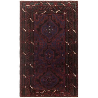 Late 20th Century Afghan Rug - 3′10″ × 6′5″ For Sale