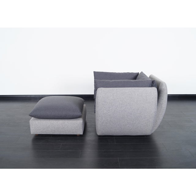 Danish Modern Mid Century Modern Lounge Chair & Ottoman For Sale - Image 3 of 8