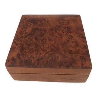 1980s Burlwood Custom Made Box For Sale