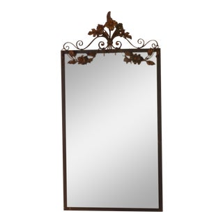 20th Century Art Nouveau Iron Wall Mirror For Sale