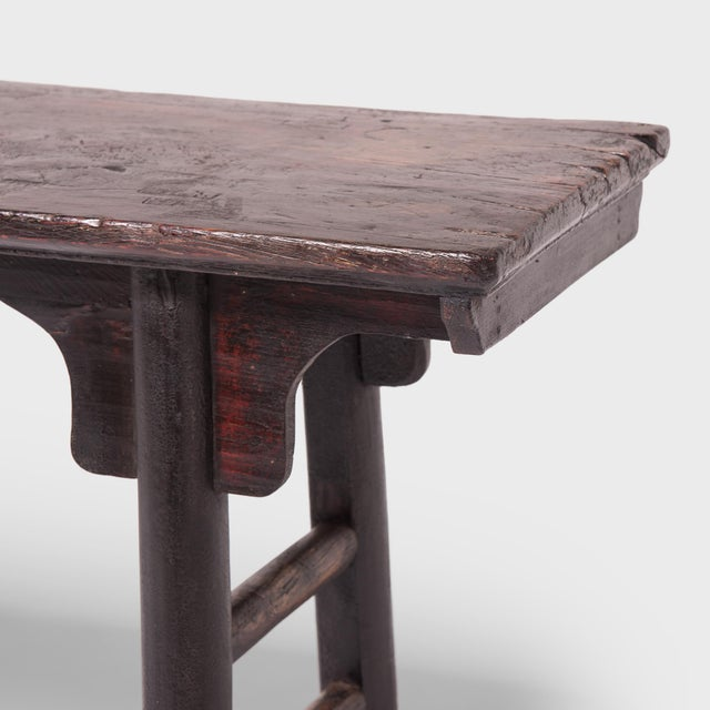 18th Century Chinese Ming Form Elm Console Table For Sale In Chicago - Image 6 of 7
