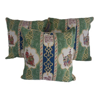 "Osborne & Little ""Potentate"" Pillow Covers - Set of 3 For Sale"