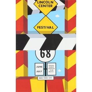 """Allan D'Arcangelo, """"Lincoln Center Festival"""", Screenprint Poster For Sale"""