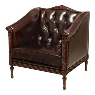 Scarborough House Mahogany Italian Lounge Chair For Sale