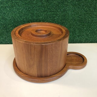 Danish Teak Ice Bucket & Tray by Dansk Preview