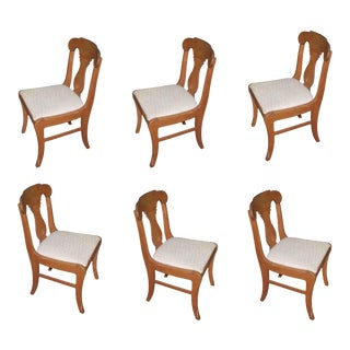 20th Century Vintage Upholstered Dining Chairs - Set of 6 For Sale