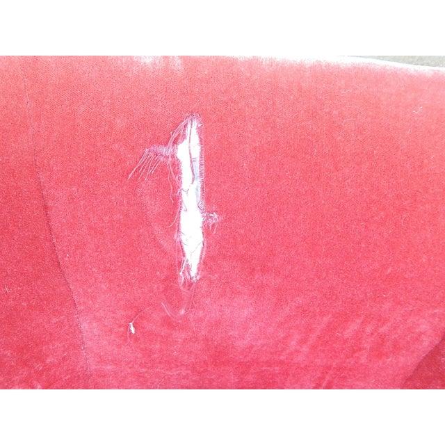 Baker Furniture Co. Red Crushed Velvet Sofa - Image 7 of 8