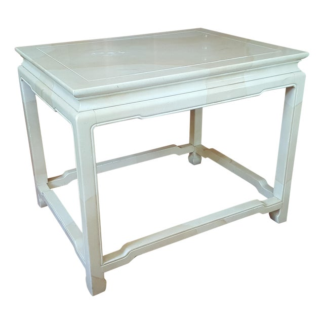 Henredon Asian Inspired Faux Finish End Table - Image 1 of 6