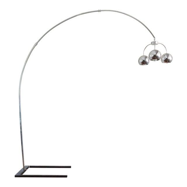 Vintage Chrome Arc Floor Lamp | Chairish