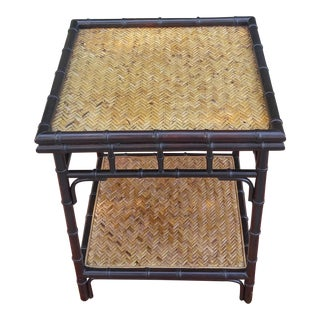 Palecek Faux Bamboo and Cane Table