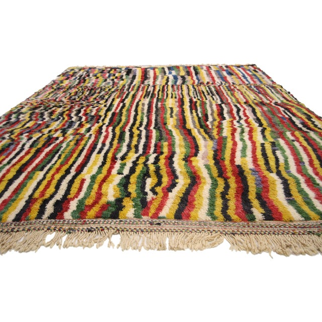 Contemporary Contemporary Berber Moroccan Rug - 9′2″ × 12′6″ For Sale - Image 3 of 7