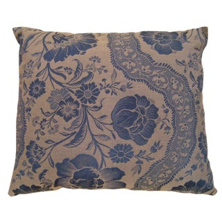 1950s Vintage Decorative Floral Pillow For Sale