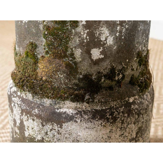 1940s Vintage Moss Concrete Table Base For Sale - Image 5 of 6