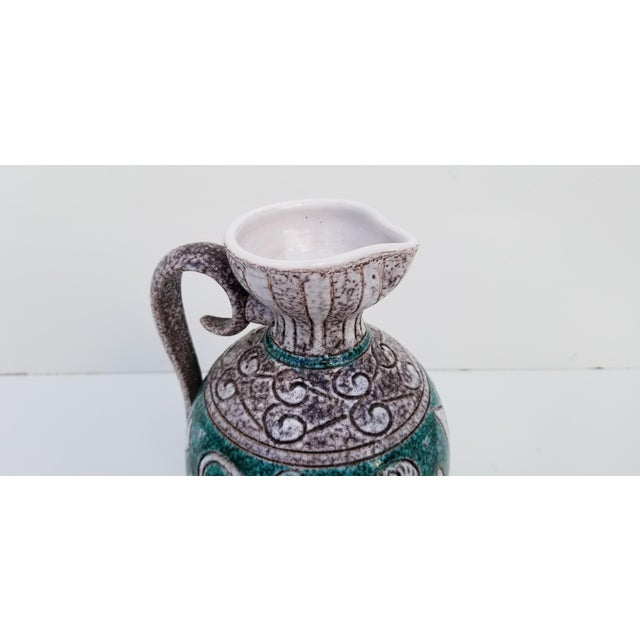 Italian Hand Painting Studio Pottery Vase For Sale - Image 9 of 12