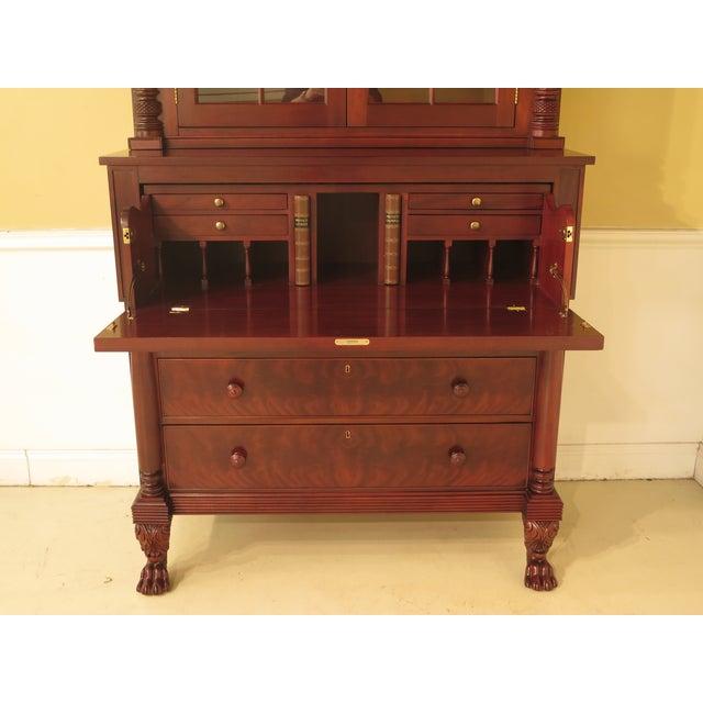Craftique Empire Mahogany Butler Secretary Desk For Sale In Philadelphia - Image 6 of 11