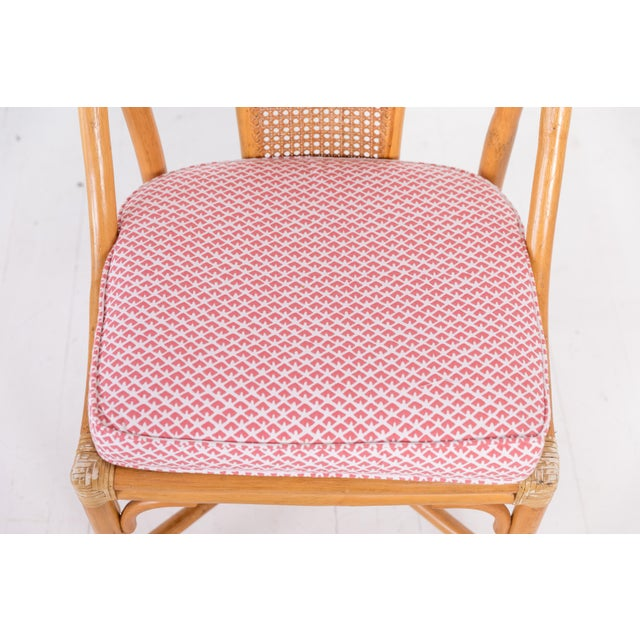 1960s Vintage McGuire Furniture Rattan Dining Chairs- Set of 6 For Sale - Image 10 of 13