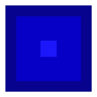 """Color Study #17"" Unframed Blue Geometric Print For Sale"