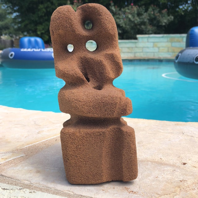 Stone Abstract Modern Carved Signed Sandstone Sculpture For Sale - Image 7 of 12