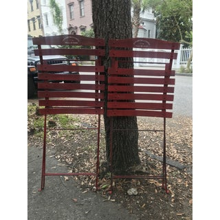 1960s Vintage Red French Folding Bistro Chairs - a Pair Preview