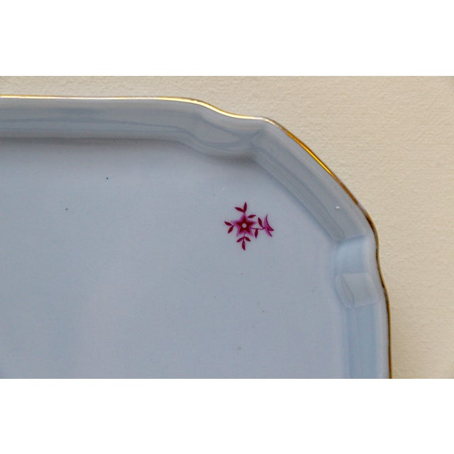 German Blue & Gold Porcelain Vanity Tray - Image 5 of 5