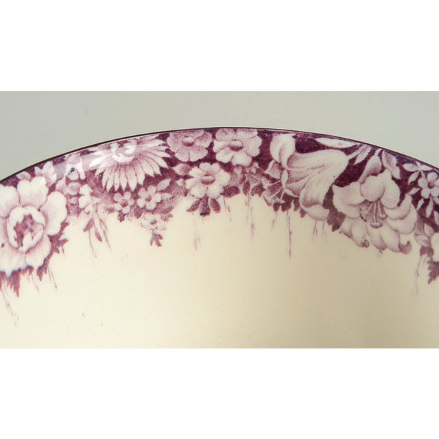 Wood & Son Early 20th Century Wood & Sons Castles Purple Cranberry Bowl For Sale - Image 4 of 8