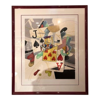 'Black Jack' Print Signed by Yankel Ginzburg For Sale