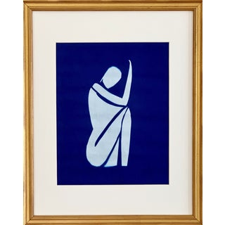 """Lindsey Weicht """"Cyanotype Series, Sitting Female No.2"""" Print For Sale"""