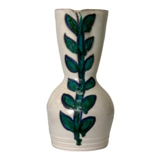 Mid 20th Century French Vallarius Pottery Leaf Pattern For Sale