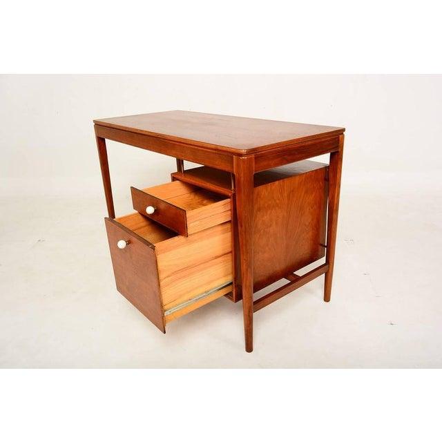 Ceramic Mid Century Modern Walnut Desk by Drexel Kipp Stewart For Sale - Image 7 of 9
