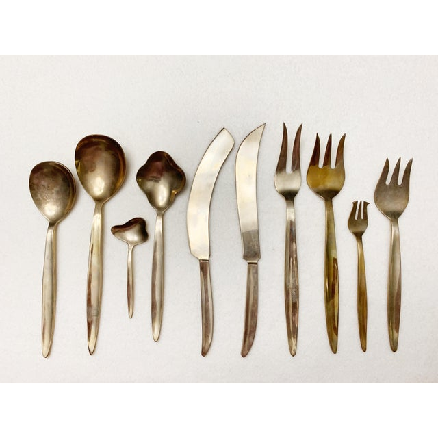 Fantastic Set Of 142 Pieces Of Solid Brass Silverware - In Original Box. Comes With 12 Per Item : Butter Knife Meat Knife...