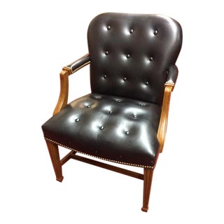 Vintage Hancock and Moore Leather Desk Chair For Sale