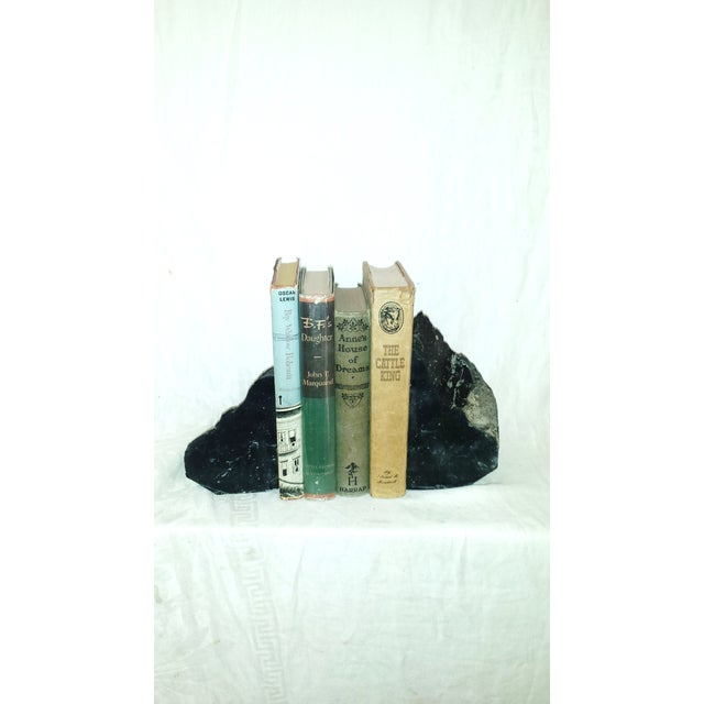 Contemporary Natural Black Obsidian Bookends - A Pair For Sale - Image 3 of 6