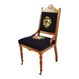Victorian Eastlake Needlepoint Side Chair For Sale