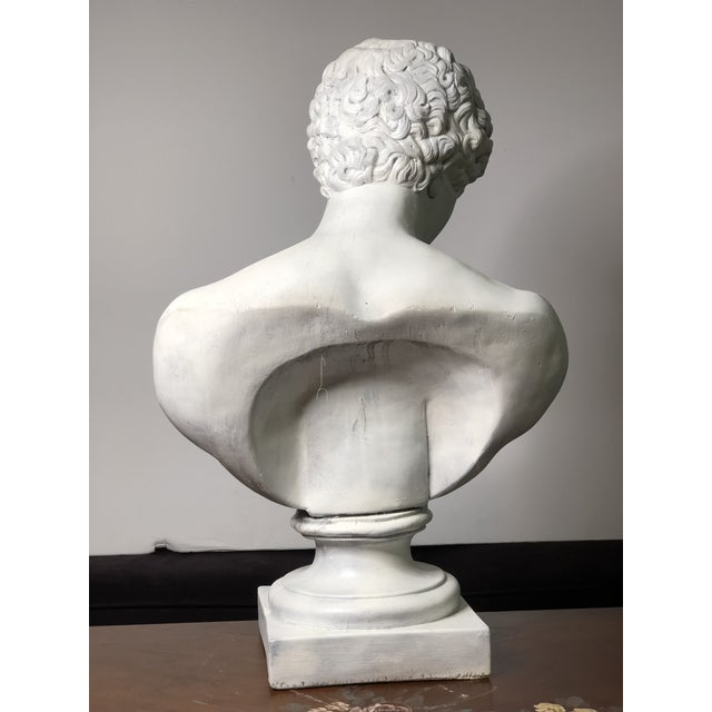 Heavy, antique plaster bust/Statue of Greek God Apollo, highly detailed neoclassical style masterpiece bust. It's a solid...