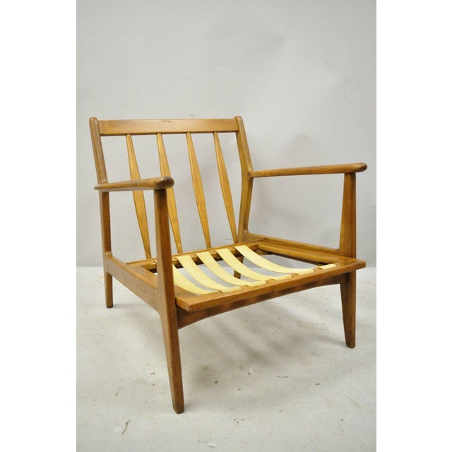 Mid-Century Modern Mid 20th Century Modern Baumritter Walnut Lounge Danish Style Arm Chair For Sale - Image 3 of 12