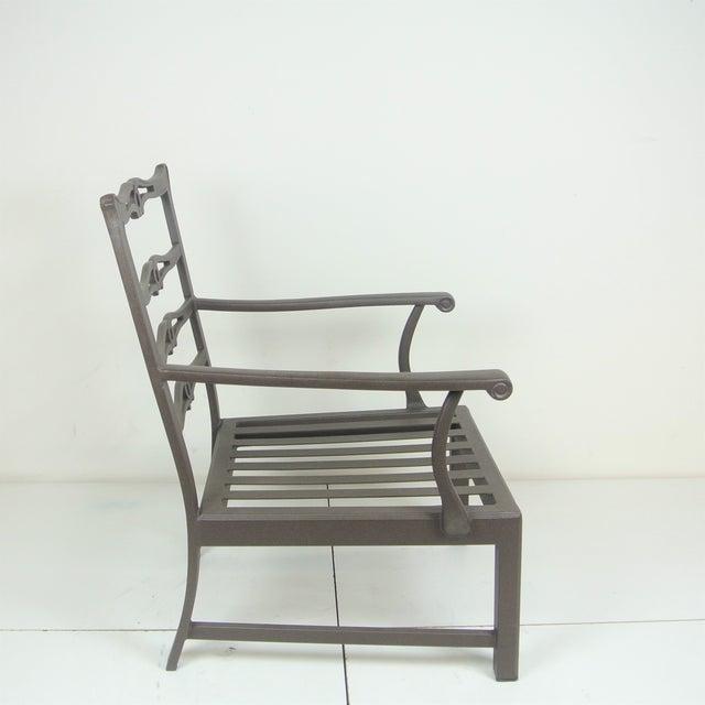 Arlington Club Chair W/ Custom Fit Sunbrella Cushion For Sale - Image 5 of 8