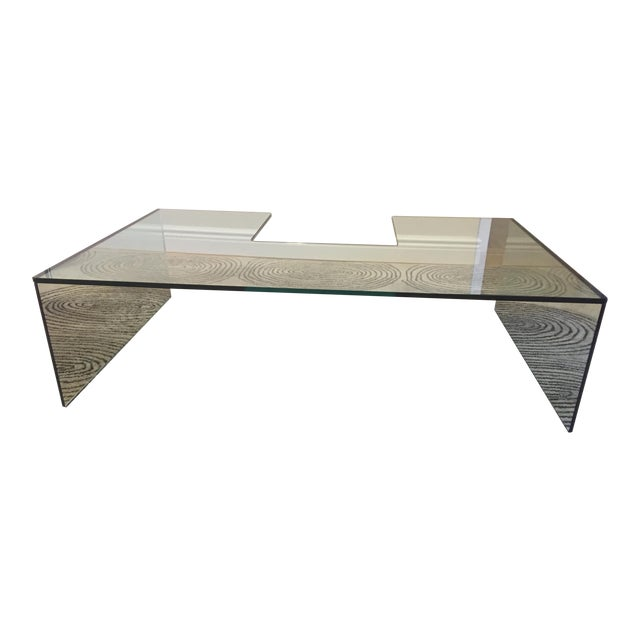 roche bobois glass coffee table