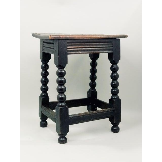 19th Century Transitional Oak Stool/Side Table For Sale In Houston - Image 6 of 6