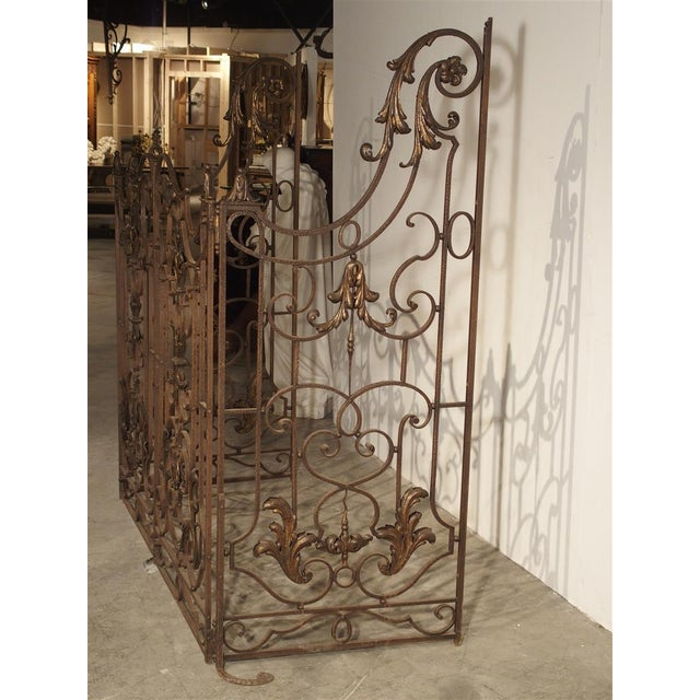 Early 19th Century Circa 1800 French Wrought Iron 4 Section Gate - A Pair For Sale - Image 5 of 12