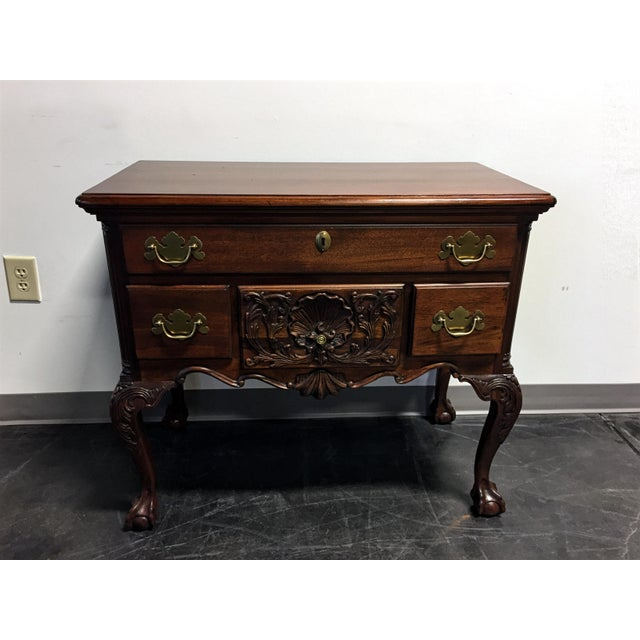 Wellington Hall Mahogany Chippendale Style Low Boy Chest - Image 3 of 11