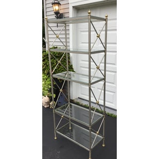 La Barge Brass and Chrome Etagere Preview