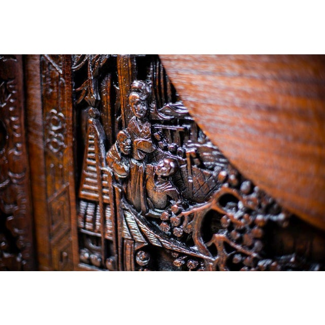 Chinese Carved Chest from the 1930s For Sale - Image 9 of 10
