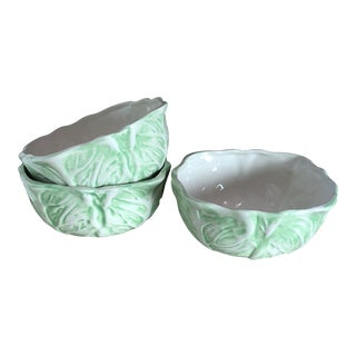 Duncan Ceramics Lettuce Bowls - Set of 3 For Sale