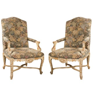 French Louis XV Style Armchairs by Jansen - A Pair For Sale
