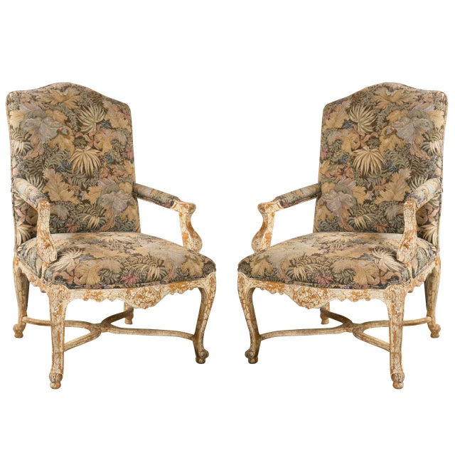 French Louis XV Style Armchairs by Jansen - A Pair - Image 1 of 10