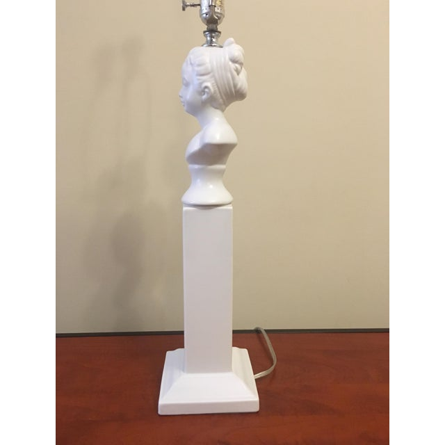 Figurative Barbara Cosgrove Bust Column Table Lamp For Sale - Image 3 of 5